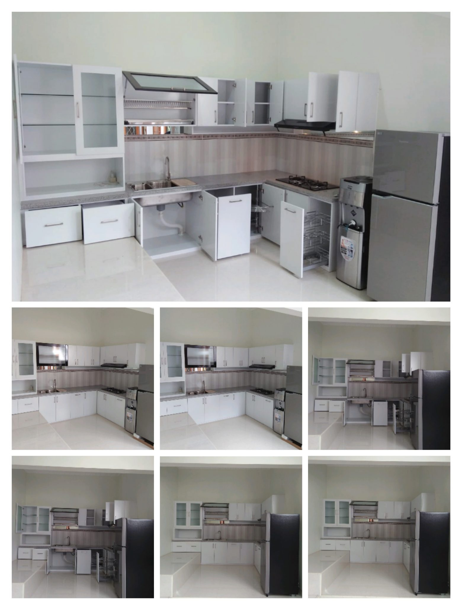 Kitchen Set Alumunium ACP Putih bu Nora by Ahza
